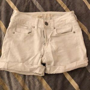 American Eagle white midi shorts
